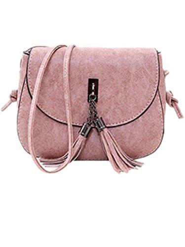 a4df96df3689c Ammon Lowen Damen Umhängetasche Mini Kreuz Körper Frauen Handtasche Bodybag  Mini kleine Schale Taschen Rosa