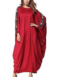 c8b31cd517fc SPDYCESS Abito da Donna Elegante Caftano Floreale Abaya - Costume Islamico  Abbigliamento Musulmano Vestito Donna Arabo
