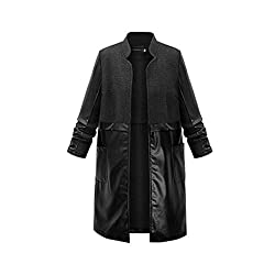 Coat Longra® Women Warm Material Splicing Specail Stand Up Collar Vrey Cool Long sleeve Coat