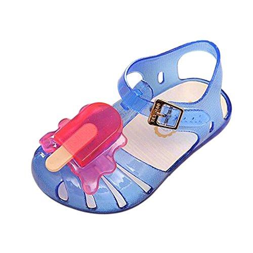 Meijunter Été Filles Garçons Bébé Popsicles Crème glacée Mignonne Gelée Antidérapant Souples Chaussures Plates Enfants Plage Sandals Pluie Bottes Bleu