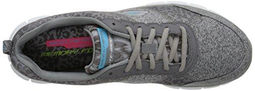 Skechers Flex AppealTribeca, Sneakers basses femme gris (CHAR)