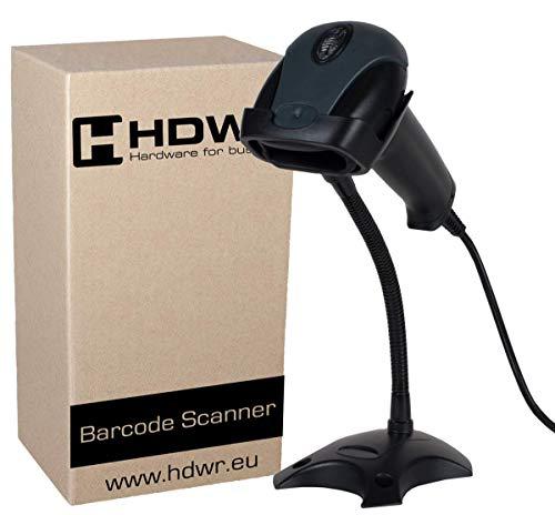 Barcode-drucker Seriell (USB Professional automatische Barcode-Scanner Barcodeleser mit Einem Ständer, Schwarz, sehr schnelles, fortgeschrittene, HDWR HD29A)