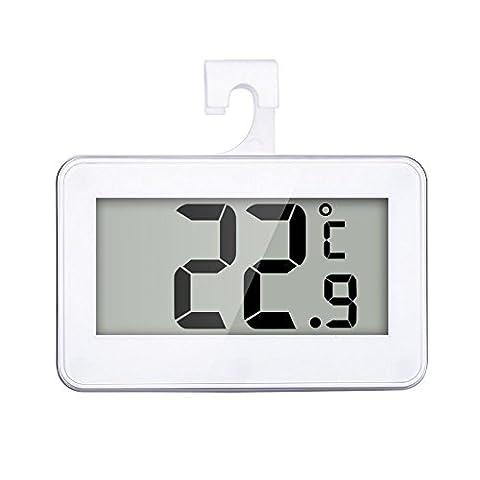 Thermomètre de réfrigérateur, étanche Thermomètre de réfrigérateur avec crochet et alarme de gel par GRD
