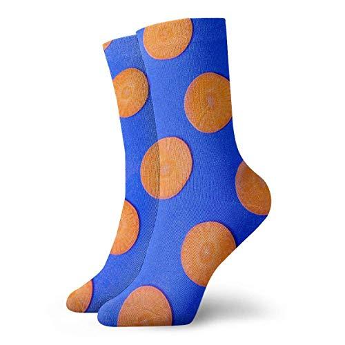 Drempad Luxury Sportsocken Blue Cut Sliced Carrots Adult Short Socks Cotton Cozy Socks for Mens Womens Yoga Hiking Cycling Running Soccer Sports