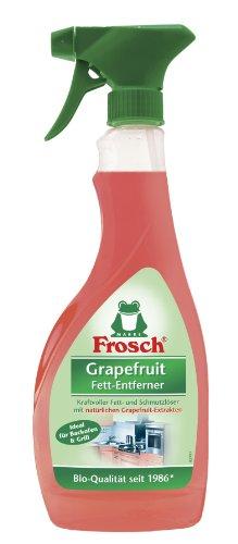 Frosch Grapefruit Fett-Entferner Sprühflasche, 8er Pack (8 x 500 ml) (Spray Spülmittel)