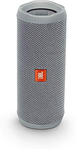 JBL Flip 4 Bluetooth Box in Grau, Wasserdichter, tragbarer Lautsprecher mit Freisprechfunktion & Alexa-Integration, Bis zu 12 Stunden Wireless Streaming mit nur einer Akku-Ladung (Standard)
