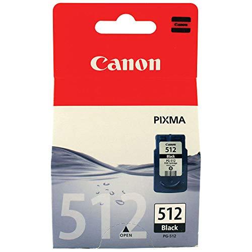 Canon PG-512 Original Schwarze Tintenpatrone für Inkjetdrucker Pixma MX320,330,340,350,360,410,420-MP230,240,250,252,260,270,272,280,282,480,490,492,495,499-IP2700,2702 -