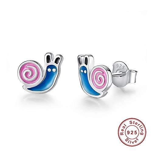 ZHOUYF Ohrringe Ohrstecker Ohrhänger Modeschmuck Cartoon Schnecke Bolzenohrrings 925 Sterling Silber Ohrring Für Mädchen Kinder Frauen Zubehör