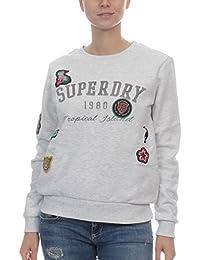 Superdry Harriet Patch Rundhals Sweatshirt Damen Oberteile