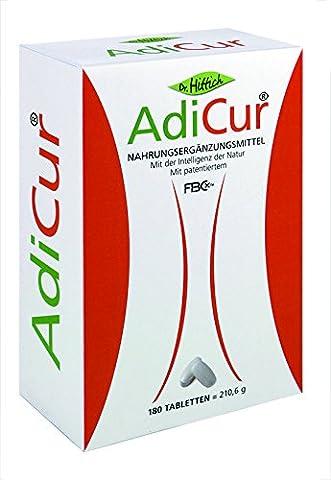 AdiCur® - 180 Ballaststoff-Tabletten mit original FBCx™ - Mit Nahrungsfasern Fett binden - Von Dr. Hittich