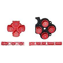 OSTENT Botones Reemplazo de reparación del juego de almohadilla de teclado Compatible para la consola Sony PSP 3000 Slim - Color rojo