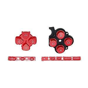 OSTENT Buttons Key Pad Set Reparatur Ersatz Kompatibel für Sony PSP 3000 Slim Konsole – Farbe Rot
