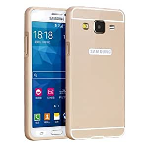 Samsung Galaxy Core Prime Case, Nicelin(TM) Aluminum Metal Frame and Acrylic Plastics Cover Case for Samsung Galaxy Core Prime (SM-G360) with Clean Cloth (Gold)
