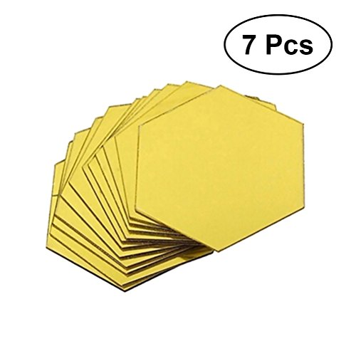 Vosarea 7 unids Hexagonal Espejos Acrílico Pegatinas