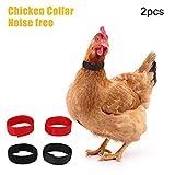 2 PZ Collare di pollo Anti Crow Collare di gallo No Crow Cintura per il rumore del corvo per galli Anti-hook Rumore Senza collo Collari Forniture Prevenire i polli da urlare, disturbare i vicini