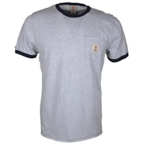 Franklin-Marshall-192AM-Jersey-Round-Neck-Light-Grey-Melange-T-Shirt