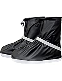 Cubrecalzado Impermeable de PVC,Resistente y Reutilizable Zapatos Cubiertas con Suela Antideslizante Resistente al para Mujere Hombre Moto Cicleta y Bicicleta Zapato Cubre