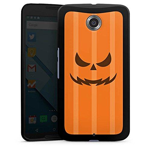 Google Kürbisse Halloween (Google Nexus 6 Hülle Case Handyhülle Kürbis Gesicht)