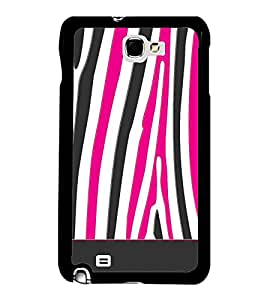 Fuson Zebra Art Fashion Designer Back Case Cover for Samsung Galaxy Note 2 :: Samsung Galaxy Note Ii N7100 (Ethnic Pattern Patterns Floral Decorative Abstact Love Lovely Beauty)
