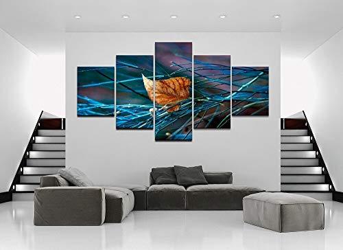 mmwin 5 Stücke Herbst Blatt Natur Wither Moderne Home Decor Leinwand HD Drucken Leinwand Wandbild Für Wohnkultur