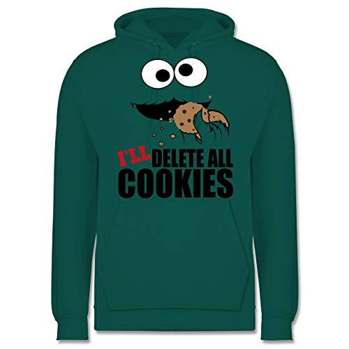 Shirtracer Nerds & Geeks - I Will Delete All Cookies Keks-Monster - M - Türkis - JH001 - Herren Hoodie