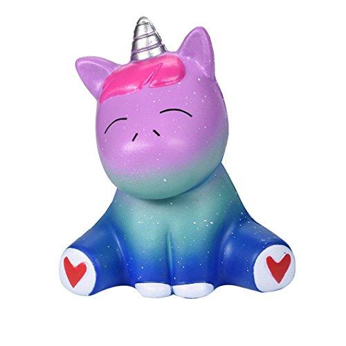 Saihui Jumbo Super Squishy Toys Cute Lila/Galaxy Loving Pony Slow Rising Duft Charm Stress lindern Super Weich Für Kinder und Erwachsene Spielzeug Beste Geschenk (Blau)