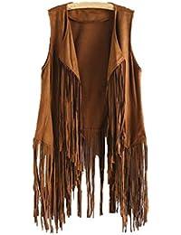 Amazon.es  Flecos - Ropa de abrigo   Mujer  Ropa 4aa3184c6c21