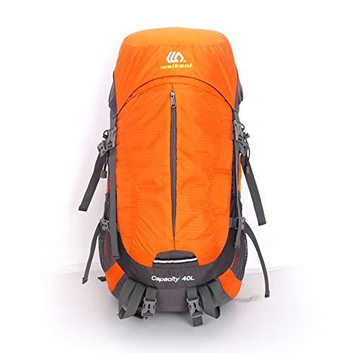 METTE Outdoor-Wanderrucksack, Camping-Wasserdichter Rucksack, Komfortables und atmungsaktives Molle-System, Bis zu 50L Laderaum für Reisen & Camping,Orange -