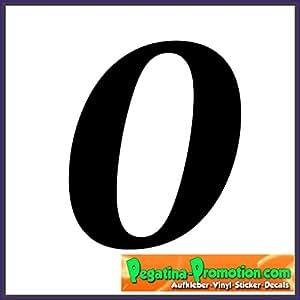 """'XL autocollant numéro de maison """"0/Noir/20cm de haut/– Coller Au Lieu de percer, pour l'extérieur, Paragraphe, chiffres chiffres vinyle Poubelle Bateau Paragraphe numéro Sticker–60couleurs au choix numéro de maison éclairé"""