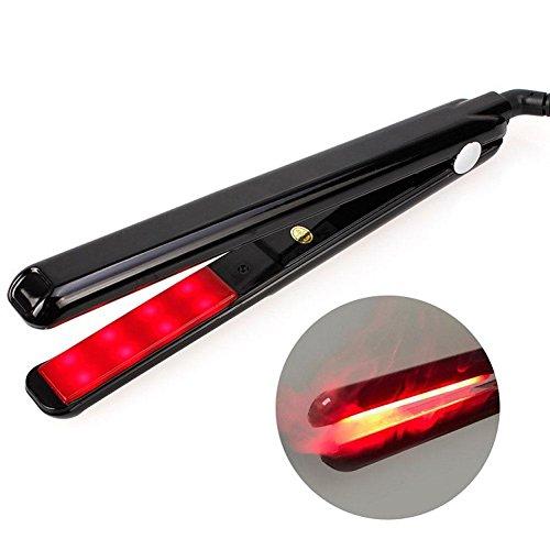 Haarglätter 45W Richtklemme Infrarot-Ultraschall-LCD-Lockenwickler , black