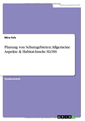 Planung von Schutzgebieten: Allgemeine Aspekte & Habitat-Inseln:  SLOSS