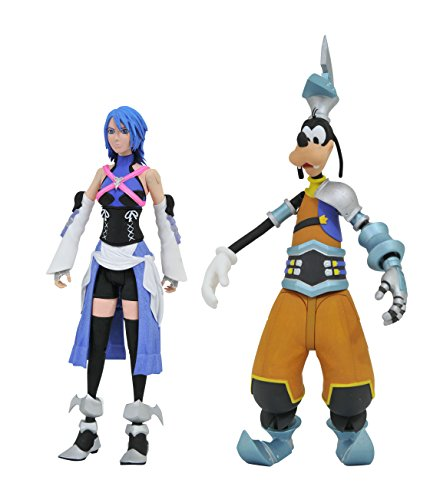 Kingdom Hearts Select Series 2 Aqua & Goofy Action-Figur Set