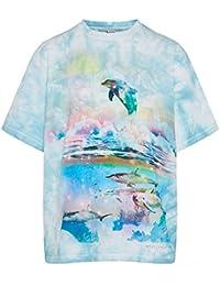 Stella McCartney Mujer 571570SMW798490 Azul Claro Algodon T-Shirt