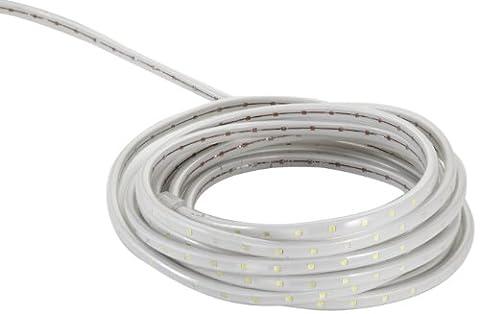 Neo-Neon LTD-FCB-2W-3528-1.67CM-6M-240V-W Bande LED lumineuse pour intérieur et extérieur Blanc 6 m IP44 60 LED SMD 3528 /m 220-240 V DC