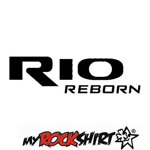 KIA RIO REBORN Aufkleber ca. 20 cm Autoaufkleber Auto Tuning Sticker Aufkleber mit Montage Set inkl.