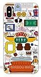 Art Design Funda para iPhone XS MAX Friends TV Series Show I'Ll be There for You Central Park Negro Carcasa de Moviles Caso Silicón