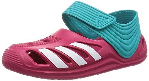 adidas Unisex Baby Zsandal C Zehentrenner, Rosa / Blanco / Azul (Rosfue / Ftwbla / Verimp), 30 EU
