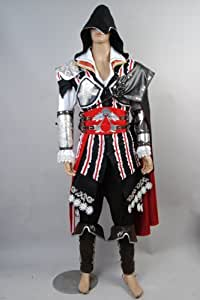 Assassin 's Creed 2 II Ezio tenue cosplay costume *Version noire