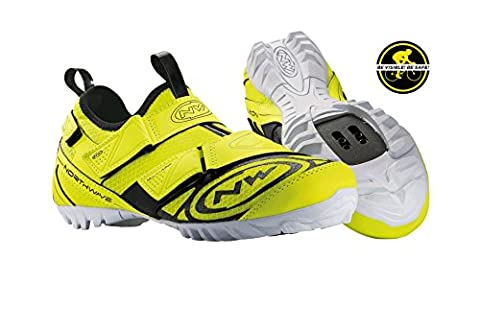 Northwave MULTI APP mountain bike shoes, yellow, flour, schuhgröße:gr. 43