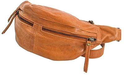 """Sac banane - Gusti Cuir studio """"Acton"""" sac ceinture vintage sac à main rétro sac porté ceinture homme femme cuir de vachette marron clair 2G39-48-5"""