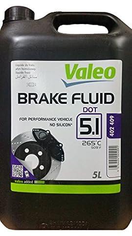 Liquide de freins 5 litres DOT5.1 Valéo