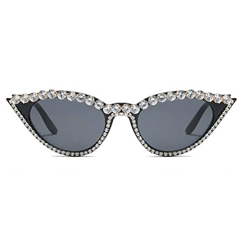 Small-Frame Crystal Diamond Sonnenbrillen Modische Anti-ultraviolette Outdoor-Brillen Für Frauen