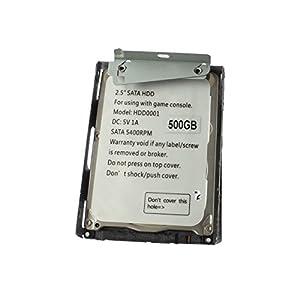 OSTENT 500GB HDD Festplatte + Halterung kompatibel für Sony PS3 Super Slim CECH-4X