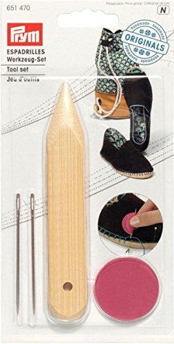Prym Werkzeug Set für Ihre eigenen Espadrilles, Metall, Mehrfarbig