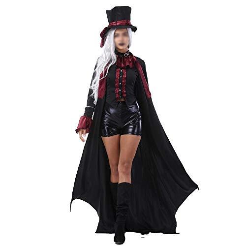 JIANGUAND Maschile e Femminile Costumi di Halloween Coppia Adulta Costume da Vampiro Earl Caricato Vestito da Zombie ( Color : Female , Size : XL )