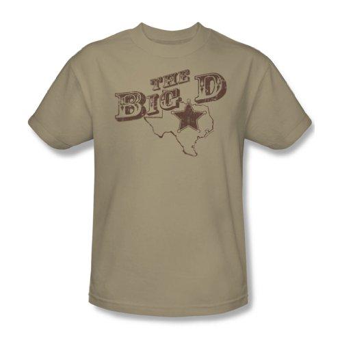 The Big D-Adult sabbia S/S-T-Shirt da uomo Beige