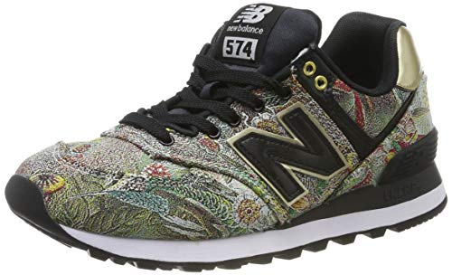 New Balance 574v2, Scarpa da Tennis Donna, Nero Black/Gold, 36.5 EU