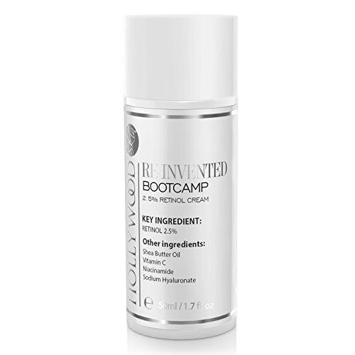Spf 12 Gesichts-lotion (RE-INVENTED Bootcamp Antifaltencreme mit 2,5% Retinol (2,5 Mal STÄRKERE Formel) inkl. Vitamin A, C und B3. Wissenschaftlich erprobte Anti-Aging Formel – 50ml)