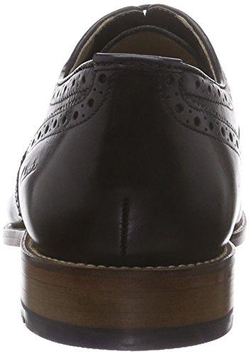 Clarks Penton Limit, Oxford homme Noir (Black Leather)