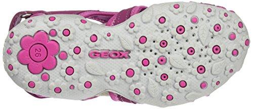 Geox Roxanne C, Sandales Bout Ouvert Fille Rose (Dk Fuchsiac8321)